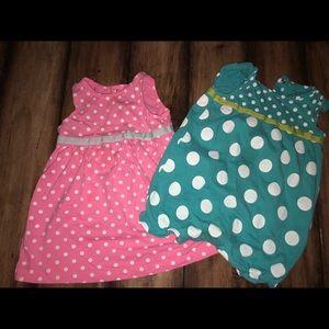 Polka dot dress & jumper